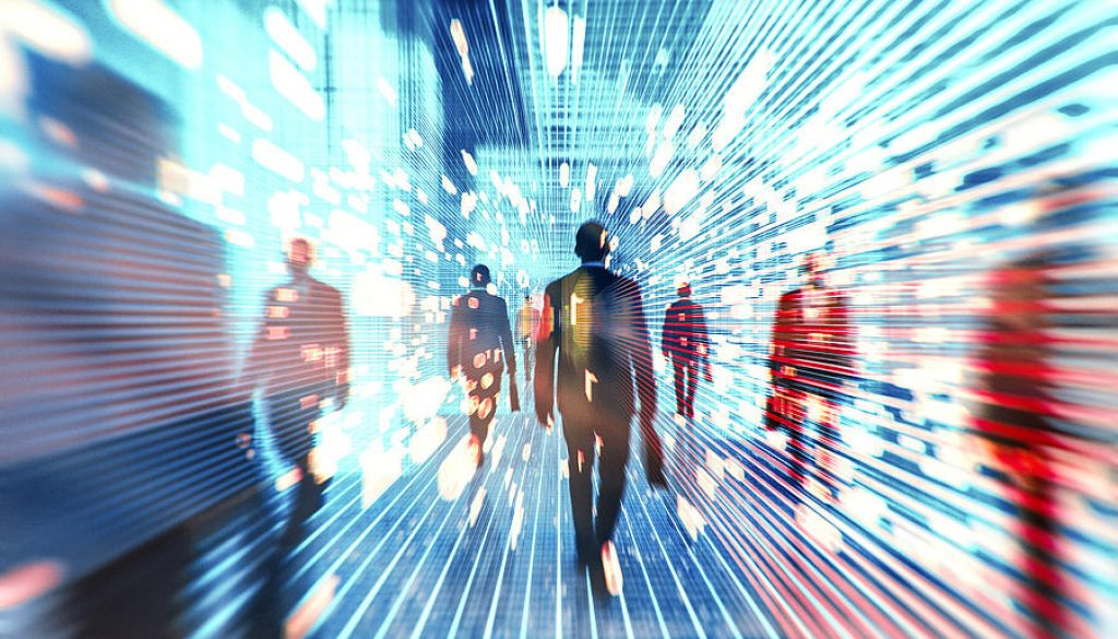Futuristic concept of humanity